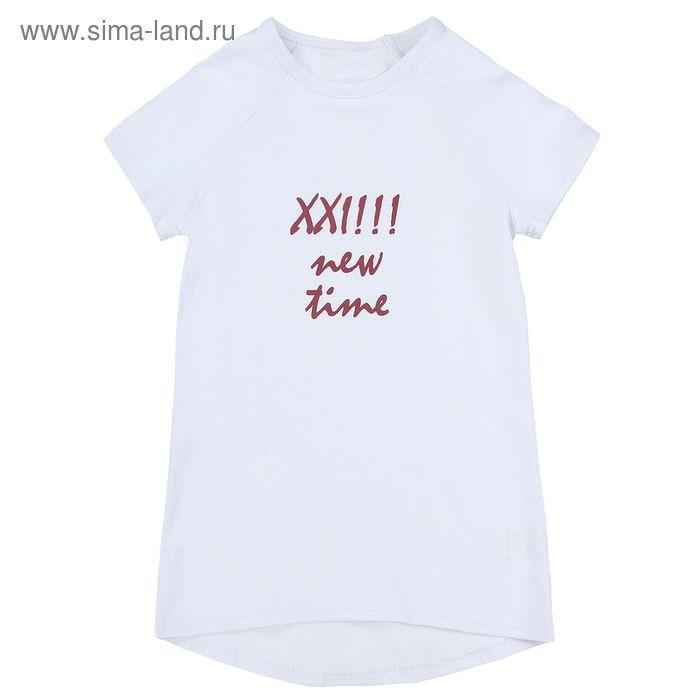 Футболка для девочки, рост 134 см (68) цвет белый ФД-201