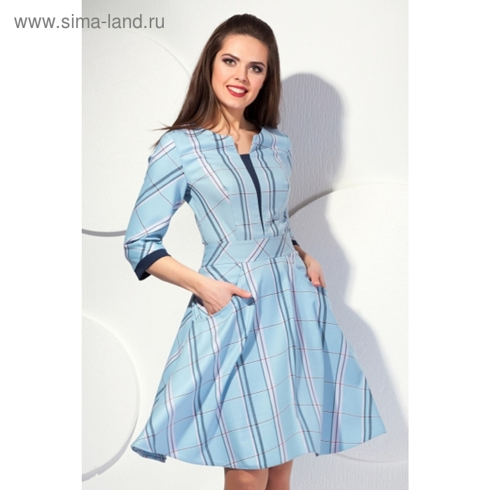Платье женское, размер 52, цвет голубой П-397/2