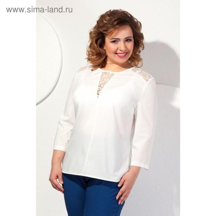 Блуза женская, размер 60, цвет молочный  Б-146