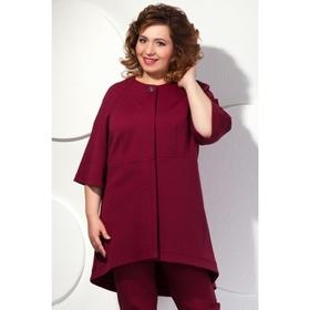 Пальто женское, размер 46, цвет марсала П-413/2