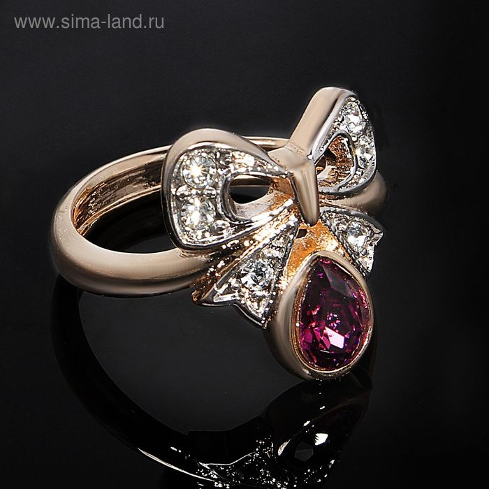 """Кольцо """"Киоса"""", размер 16, цвет бело-фиолетовый в золоте"""