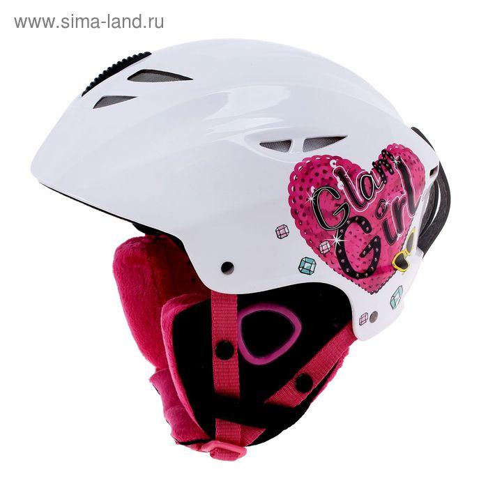 Шлем зимний, лыжи, сноуборд Barbie, р-р М (54-58см)