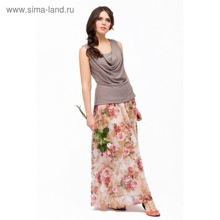 Юбка женская, размер 46, цвет цветочный принт Ю-160