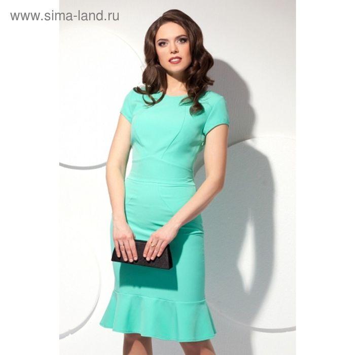Платье женское, размер 46, цвет мятный П-425