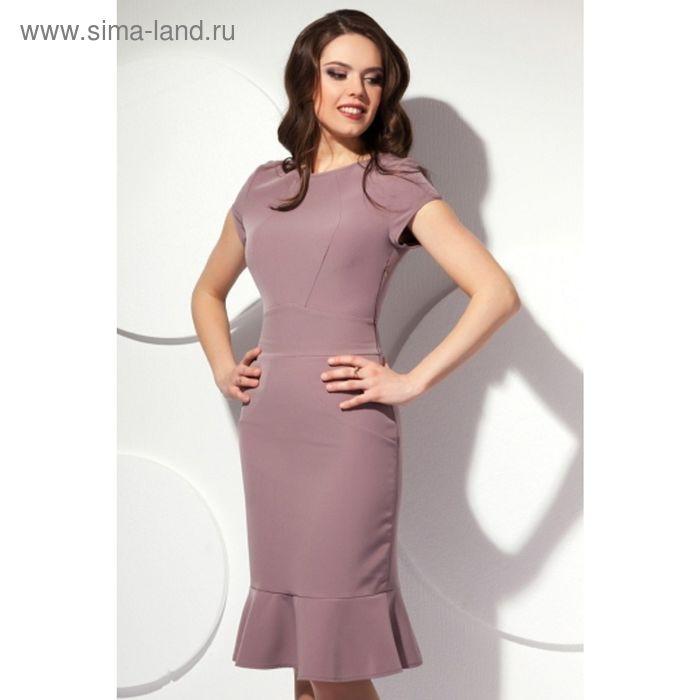 Платье женское, размер 52, цвет капучино П-425/1