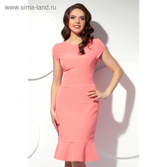Платье женское, размер 52, цвет розовый П-425/2