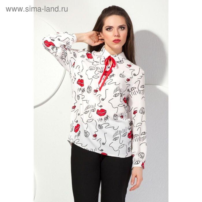 Блуза женская, размер 56, цвет молочный Б-149