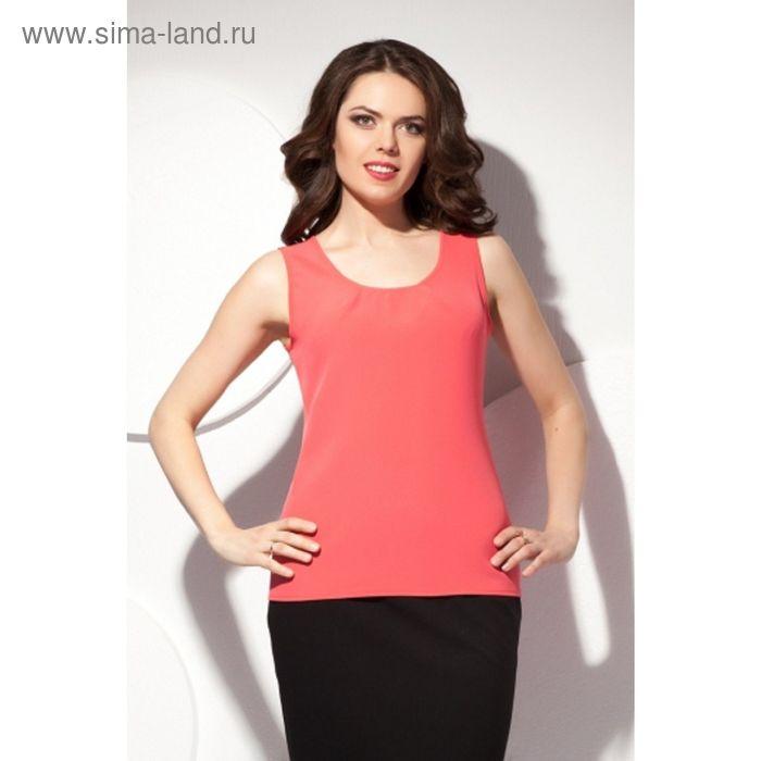 Блуза женская, размер 54, цвет коралловый Б-150/2