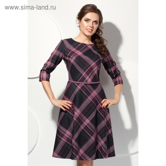 Платье женское, размер 50, цвет серый+розовый П-321/17