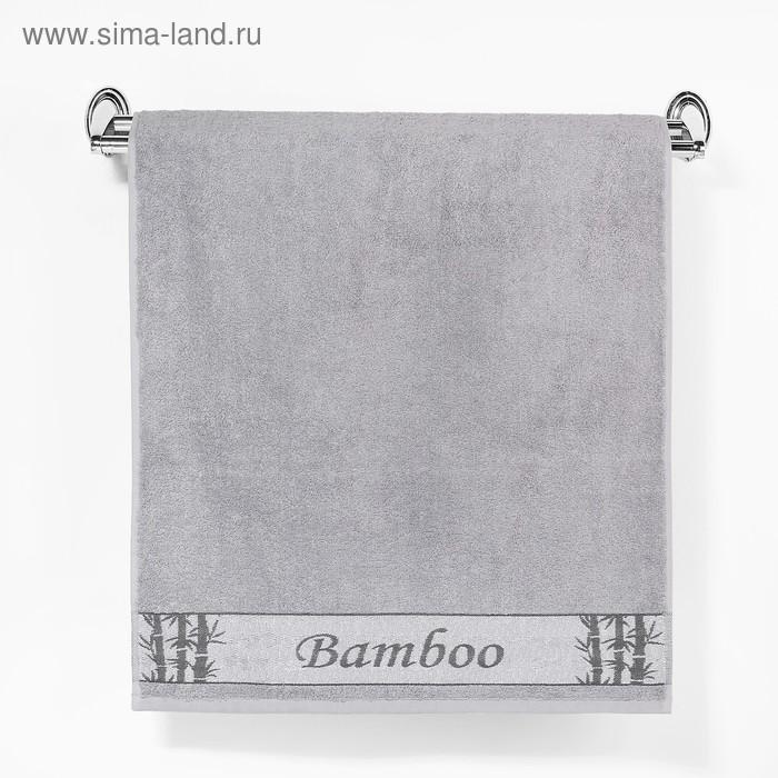"Полотенце махровое ""Этель"" Stelo, серый 50*90 см бамбук, 460 г/м2"