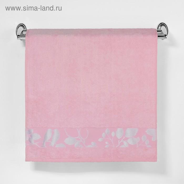 """Полотенце махровое """"Этель"""" Passero, нежно-розовый 50*90 см бамбук, 460 г/м2"""