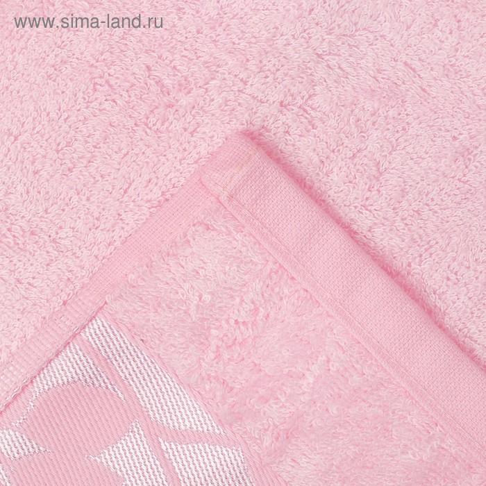 """Полотенце махровое """"Этель"""" Passero, нежно-розовый 70*140 см бамбук, 450 г/м2"""
