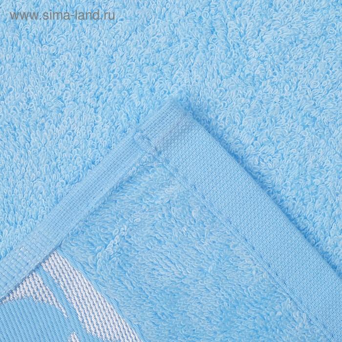 """Полотенце махровое """"Этель"""" Passero, голубой 70*140 см бамбук, 450 г/м2"""