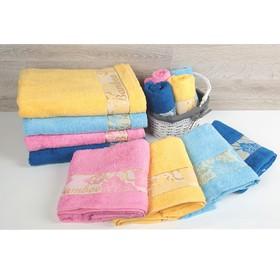 """Полотенце махровое """"Этель"""" Bamboo Blossom, размер 30х50 см, цвет голубой"""