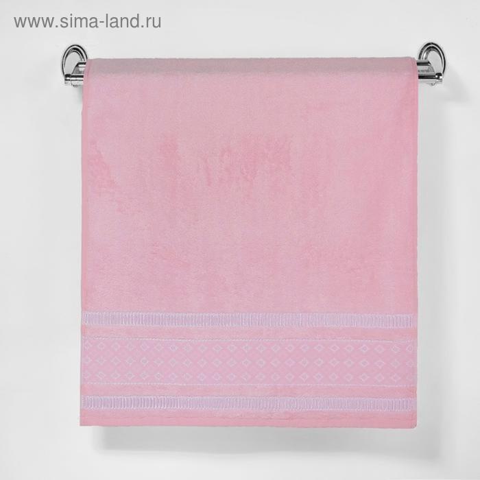 """Полотенце махровое """"Этель"""" Bambolina, нежно-розовый 70*140 см бамбук, 450 г/м2"""