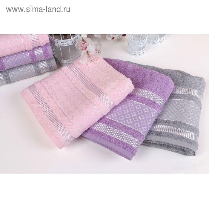"""Полотенце махровое """"Этель"""" Bambolina, серый 70*140 см бамбук, 450 г/м2"""