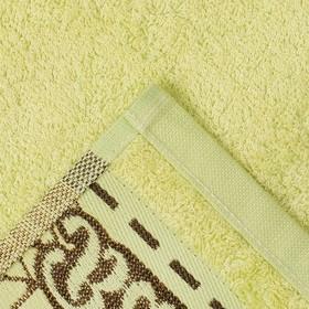 """Полотенце махровое """"Этель"""" Flabello, светло-зелёный 70*140 см бамбук, 450 г/м2"""