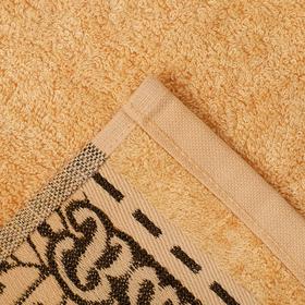 """Полотенце махровое """"Этель"""" Flabello, бежевый 70*140 см бамбук, 450 г/м2"""