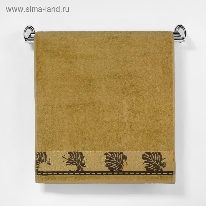 """Полотенце махровое """"Этель"""" Flabello, горчичный 50*90 см бамбук, 460 г/м2"""