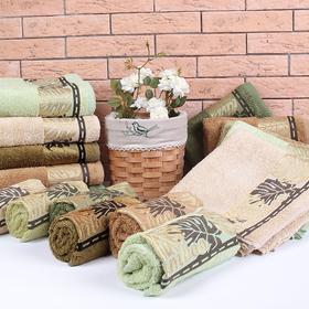 """Полотенце махровое """"Этель"""" Flabello, горчичный 70*140 см бамбук, 450 г/м2"""