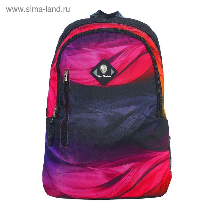 Рюкзак молодёжный на молнии, 2 отдела, наружный карман, разноцветный