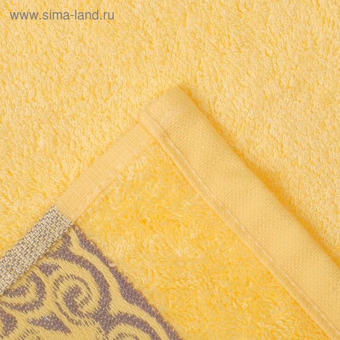 """Полотенце махровое """"Этель"""" Vitigno, жёлтый 70*140 см бамбук, 450 г/м2"""
