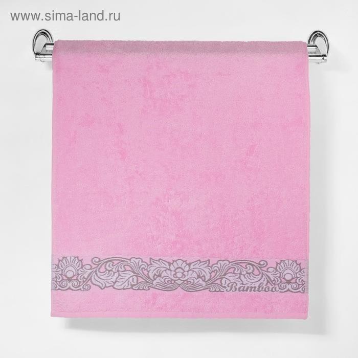 """Полотенце махровое """"Этель"""" Vitigno, розовый 70*140 см бамбук, 450 г/м2"""