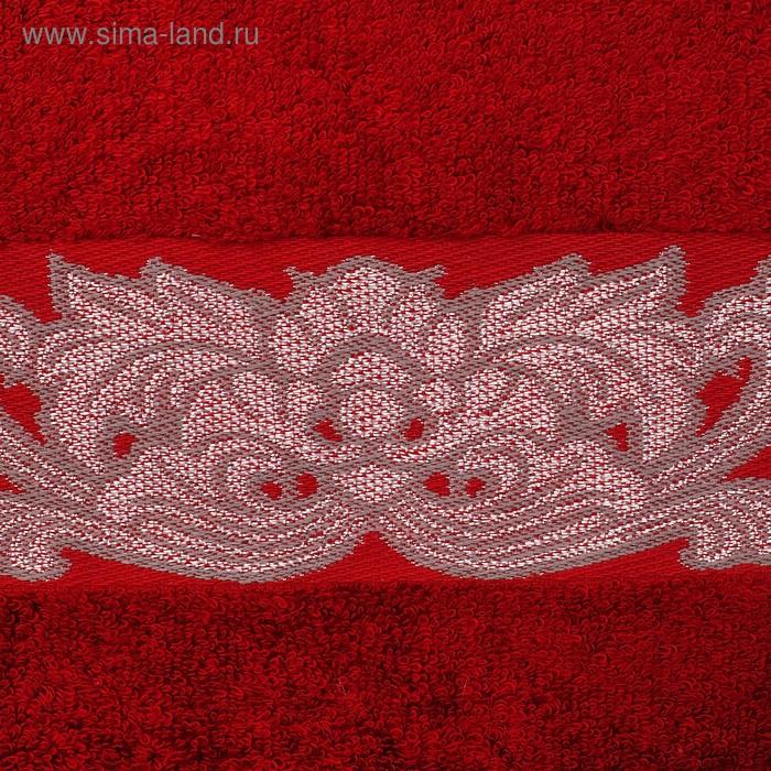 """Полотенце махровое """"Этель"""" Vitigno, бордовый 70*140 см бамбук, 450 г/м2"""