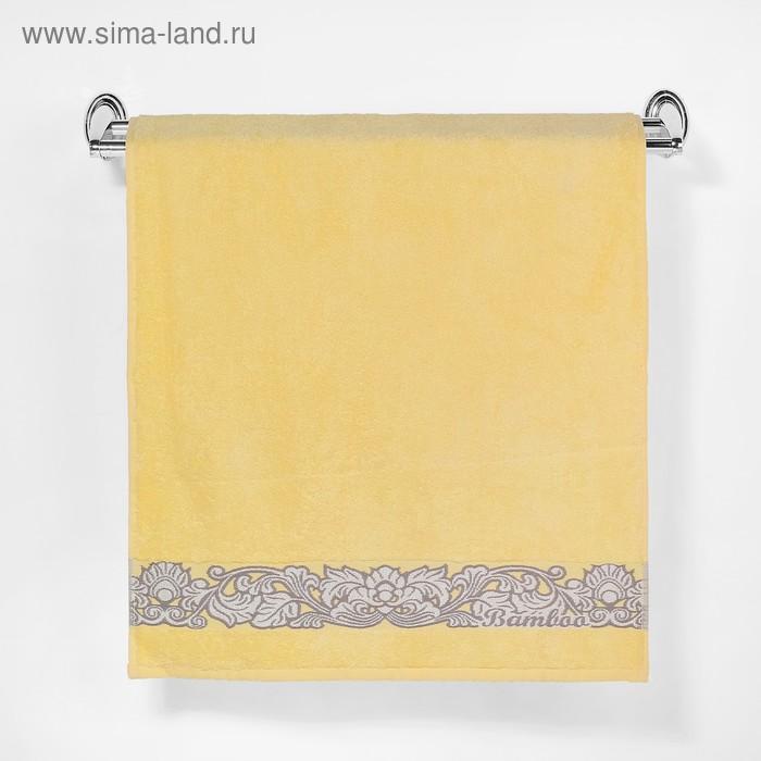 """Полотенце махровое """"Этель"""" Vitigno, жёлтый 50*90 см бамбук, 460 г/м2"""