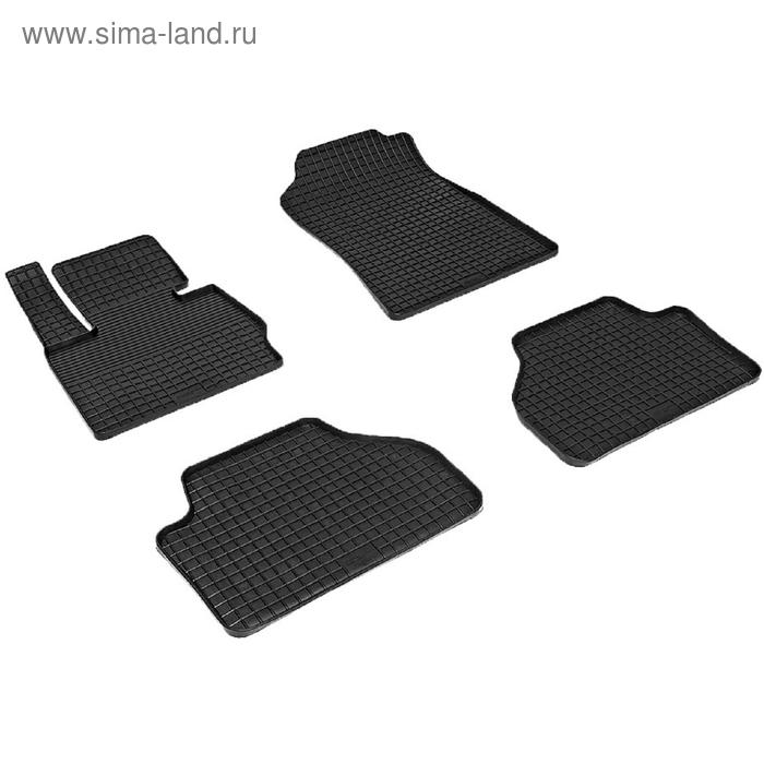 Коврики резиновые 'Сетка' для Audi А8, 2008-2010