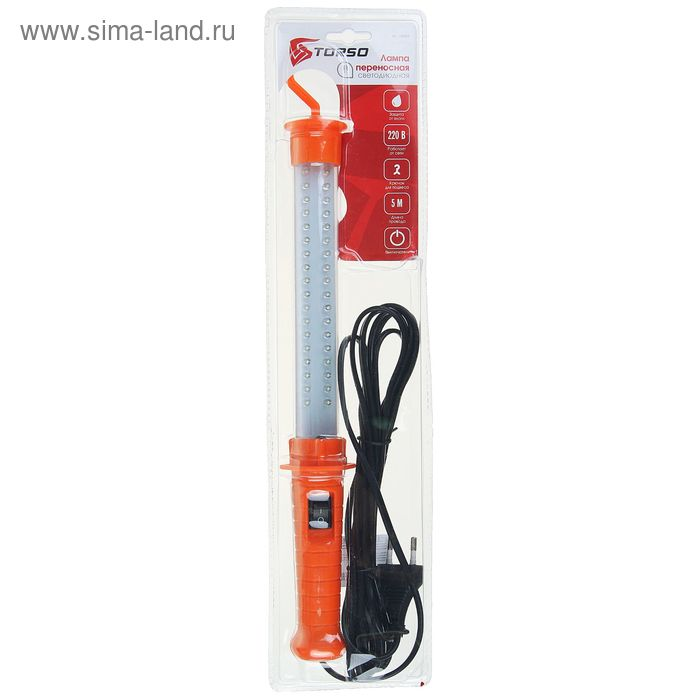 Лампа-переноска светодиод. TORSO, ТК-136, 220В, выключ., вилка, провод 5м.
