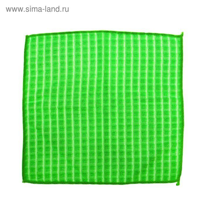 """Салфетка для уборки 30х30 см """"Клетка"""", 200 гр, цвет зеленый"""