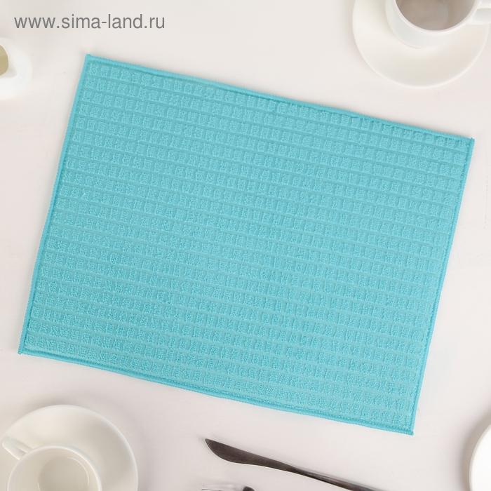 Салфетка для сушки посуды, 30х40 см, микрофибра, цвет голубой