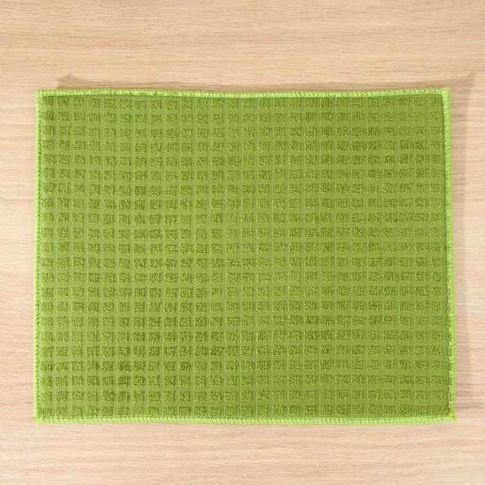 Салфетка для сушки посуды, 30х40 см, микрофибра, цвет зеленый