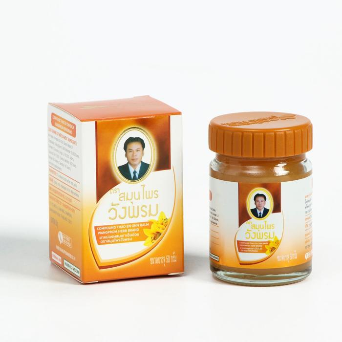 Согревающий бальзам Wangphrom Orange с Криптолеписом, 50 г