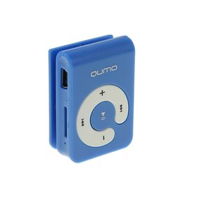 MP3 плеер Qumo HIT!, Micro SD до 32 ГБ, голубой Ош