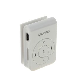 MP3 плеер Qumo HIT!, Micro SD до 32 ГБ, белый Ош