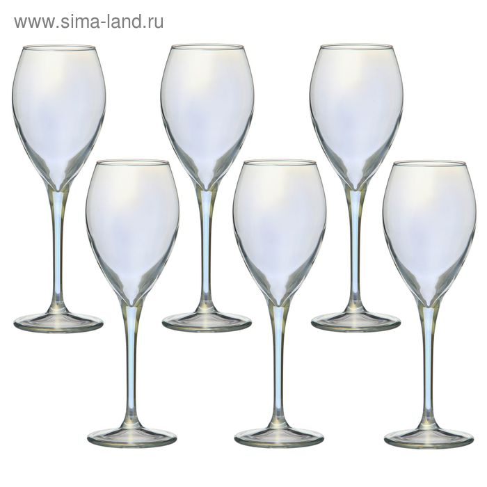 """Набор фужеров для вина 210 мл """"Радуга"""", 6 шт"""