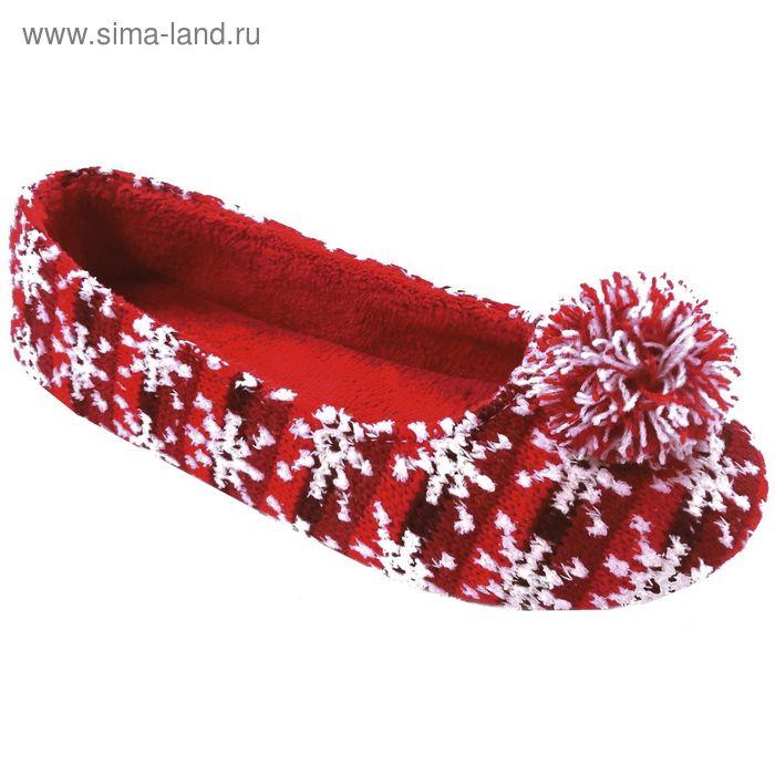Тапочки женские Forio арт. 135-5511 Б (красный) (р. 36)