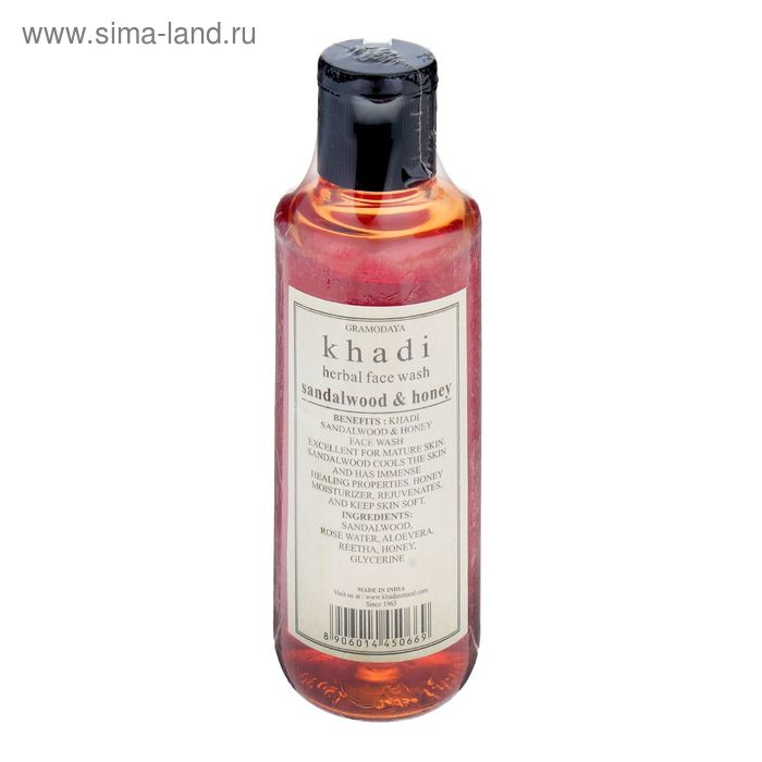 Средство для умывания Khadi Natural сандал, мёд, 210 мл