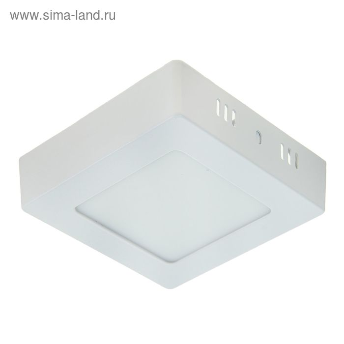 Панель квадратная накладная 120х120 мм, 6 W, LED-30-2835-420Lm-4000К-120deg-160-260V