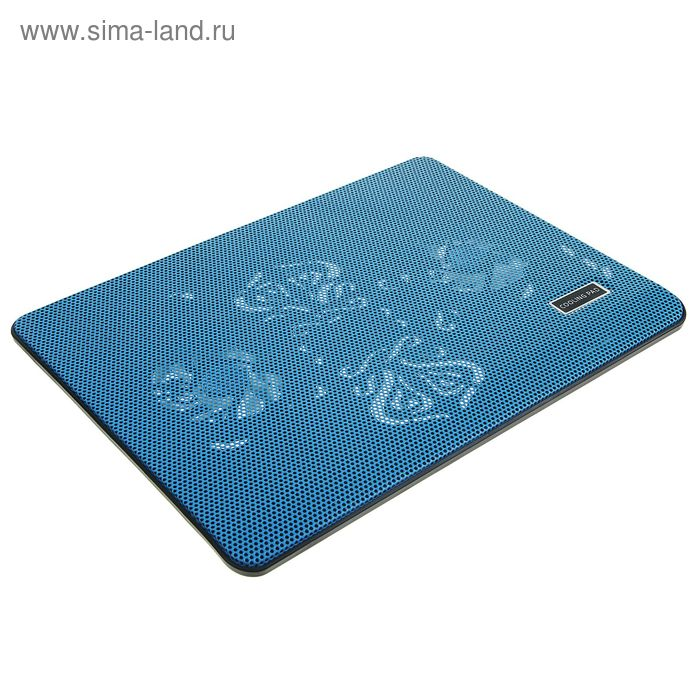 Подставка для охлаждения ноутбука с LED подсветкой, 2 кулера, провод 40 см, синяя