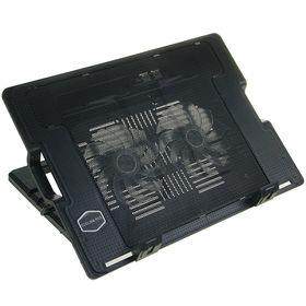 Подставка для охлаждения ноутбука с LED подсветкой, 2 кулера, провод 40 см, черная