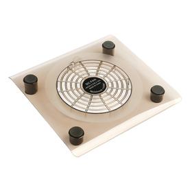 Подставка для охлаждения ноутбука с LED подсветкой, 1 кулер, провод 40 см, прозрачная