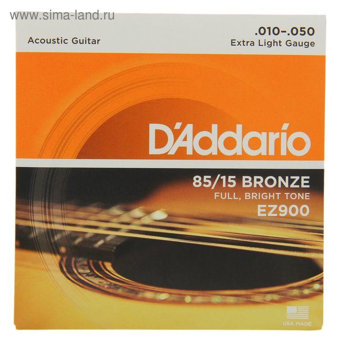 D'ADDARIO EZ900 струны для акустической гитары, бронза, 85/15, Extra Light, 10-50
