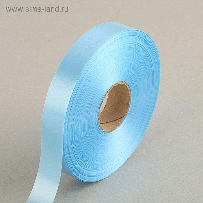 Лента для декора и подарков голубая, 2 см х 91 м