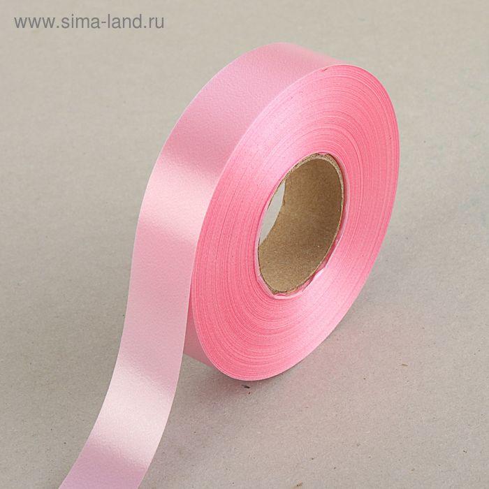 Лента для декора и подарков светло-розовая, 2 см х 45 м