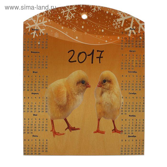 Доска сувенирная фанера 300*375 календарь