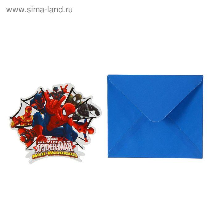 """Приглашения """"Человек-Паук"""" (набор 6 шт) / Ultimate Spiderman Web Warriors"""
