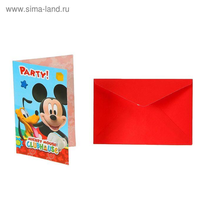 """Приглашения """"Игривый Микки Маус"""" (набор 6 шт) / Playful Mickey"""